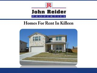 Homes For Rent In Killeen