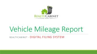 vehicle mileage report : realtycabinet