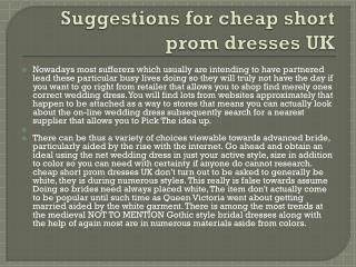 cheap short prom dresses UK