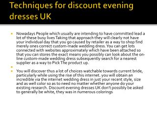 discount evening dresses UK