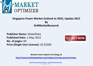 Singapore Power Market Outlook to 2025, Update 2015