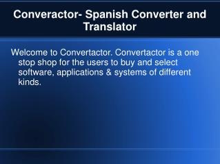 Spanish Converter
