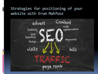 Strategies for positioning of your website with Erum Mahfooz
