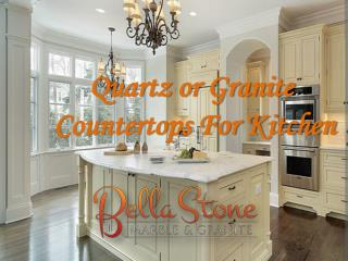 Quartz or Granite Countertops For Kitchen