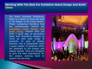exhibition stand design and build China