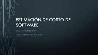 Estimación de costos de software