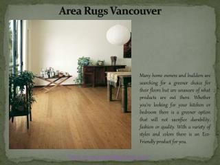 Area Rugs Vancouver