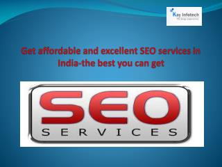 Get affordable & excellent SEO services in India
