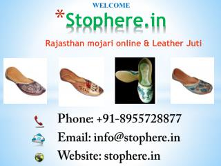 rajasthani mojari online & Leather Juti