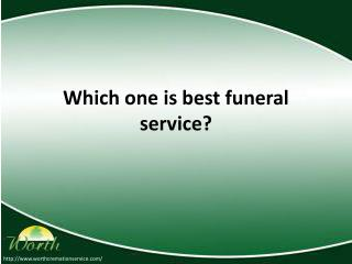 Best funeral service in Florida