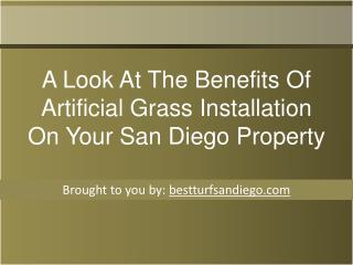 A Look At The Benefits Of Artificial Grass Installation On Y