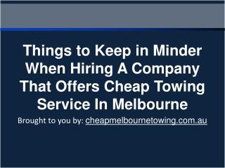 Things to Keep in Minder When Hiring A Company That Offers