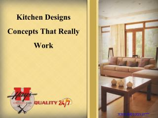 Kitchen Designs Concepts that Really Work