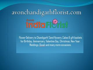 Online Flowers and Cake Delivery to Chandigarh - Visit Avon
