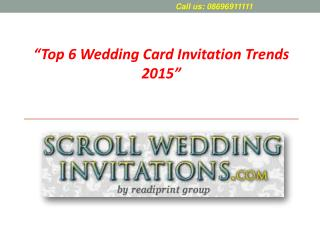6 Wedding Card Invitation Trends of 2015