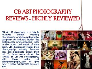 CB ART PHOTOGRAPHY REVIEWS - HIGHLY  REVIEWED