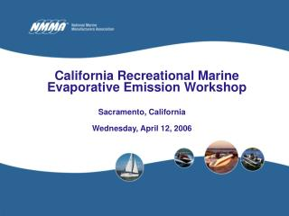 California Recreational Marine Evaporative Emission Workshop