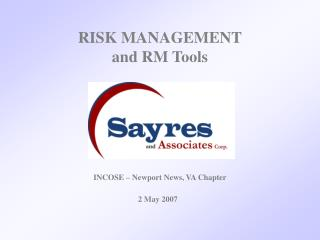 RISK MANAGEMENT and RM Tools