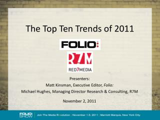 The Top Ten Trends of 2011