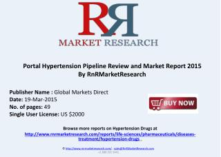 Portal Hypertension Therapeutic Pipeline Review, H1 2015