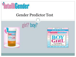 Gender Predictor Test