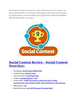 Social Contest review and (FREE) $12,700 bonuses