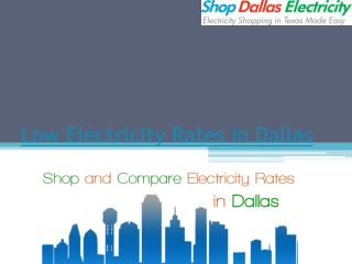 Low Electricity Rates in Dallas - Shop Dallas Electricity