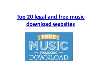Top 20 legal and free music download websites (Updated 2015)