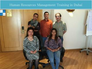 Human Resources Management Training in Dubai
