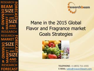 Mane in the 2015 Global Flavor and Fragrance market Goals