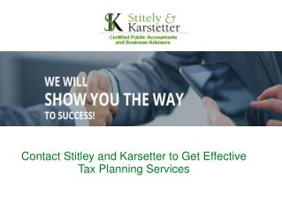 Stately & Karstetter Provide professional Accounting Servic