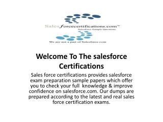 salesforce certifications sample papers