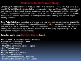 Tims Auto Body