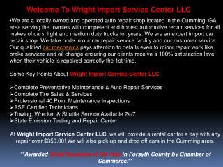 Wright Import