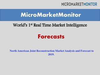 North American Joint Reconstruction Market Analysis