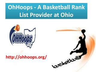 OhHoops Provides Basketball Ranking at Ohio