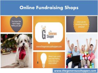 Online Fundraising Shops
