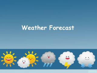 Weather Forecast in India