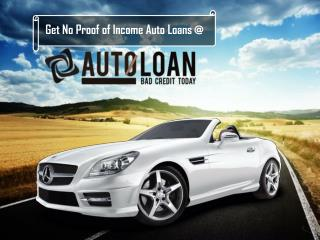 No Income Verification Auto Loans