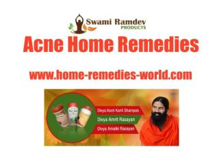 Effective Home Remedies for Acne Problem