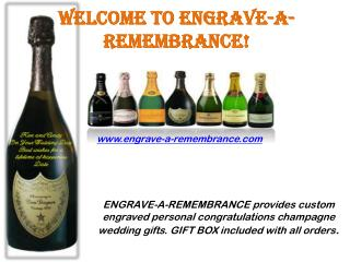 Memorable and Personalized Champagne Gift Delivery