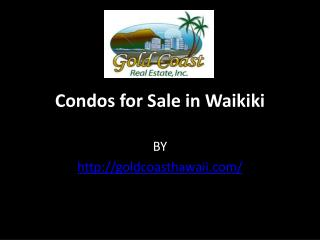 Condos for Sale in Waikiki