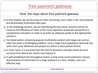 Social network follow the instruction free payment gateway