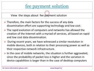 The best guide for fee payment solution