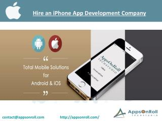 Hire an iPhone App Development Company