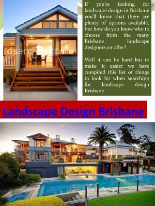 Landscape Design Brisbane - Creating Balance