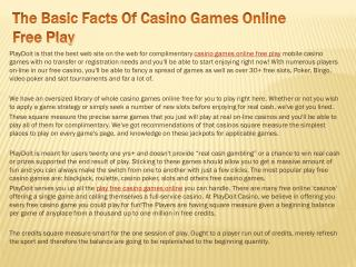 The Basic Facts Of Casino Games Online Free Play