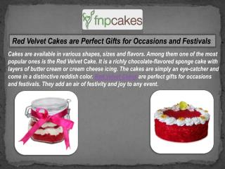 Buy and send red velvet cake online from FNP Cakes