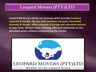 Removals Cape Town -Leopard Movers (Pty) Ltd