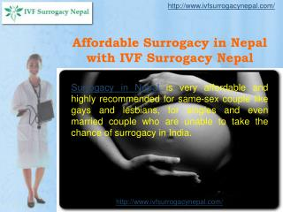 Affordable Surrogacy in Nepal with IVF Surrogacy Nepal